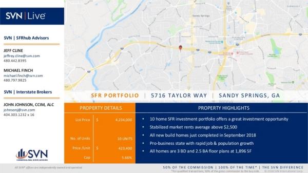10 Home SFR Investment Portfolio Sandy Springs GA-01
